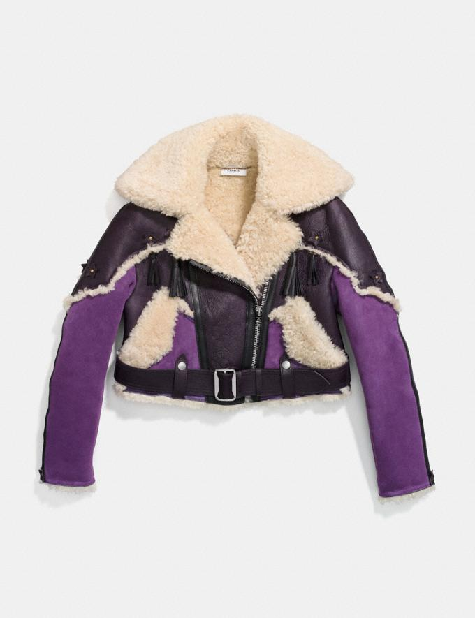 Coach Western Aviator Jacket Dark Purple