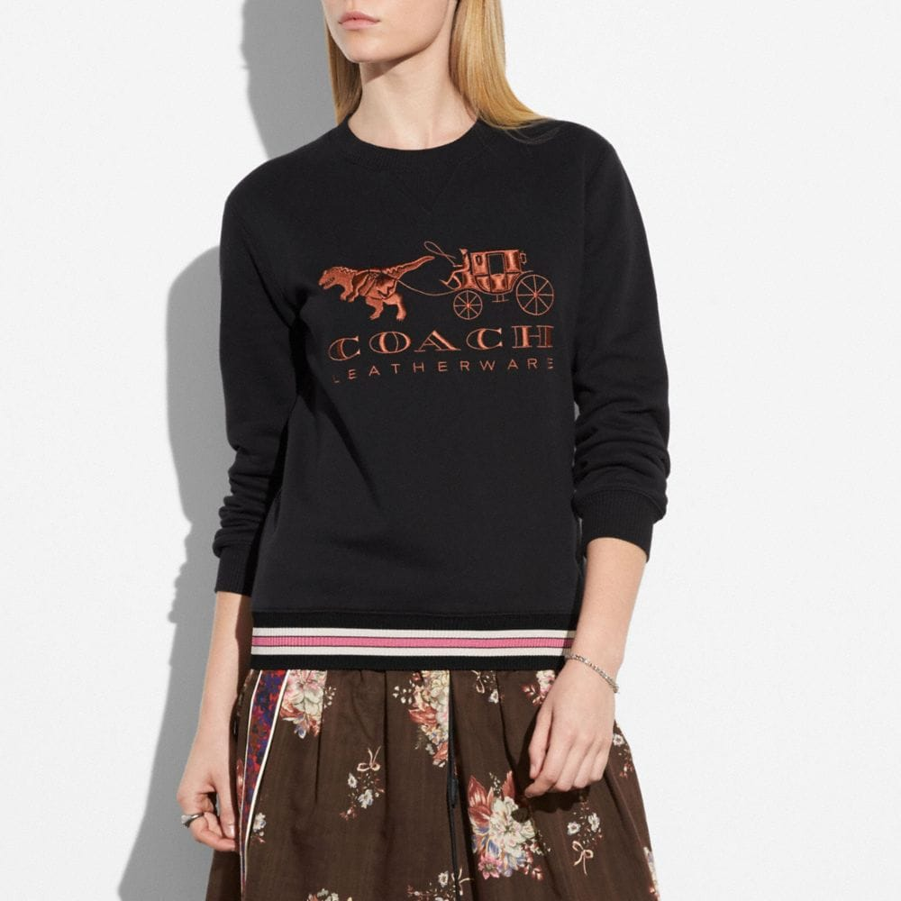 Coach Rexy and Carriage Sweatshirt Alternate View 1