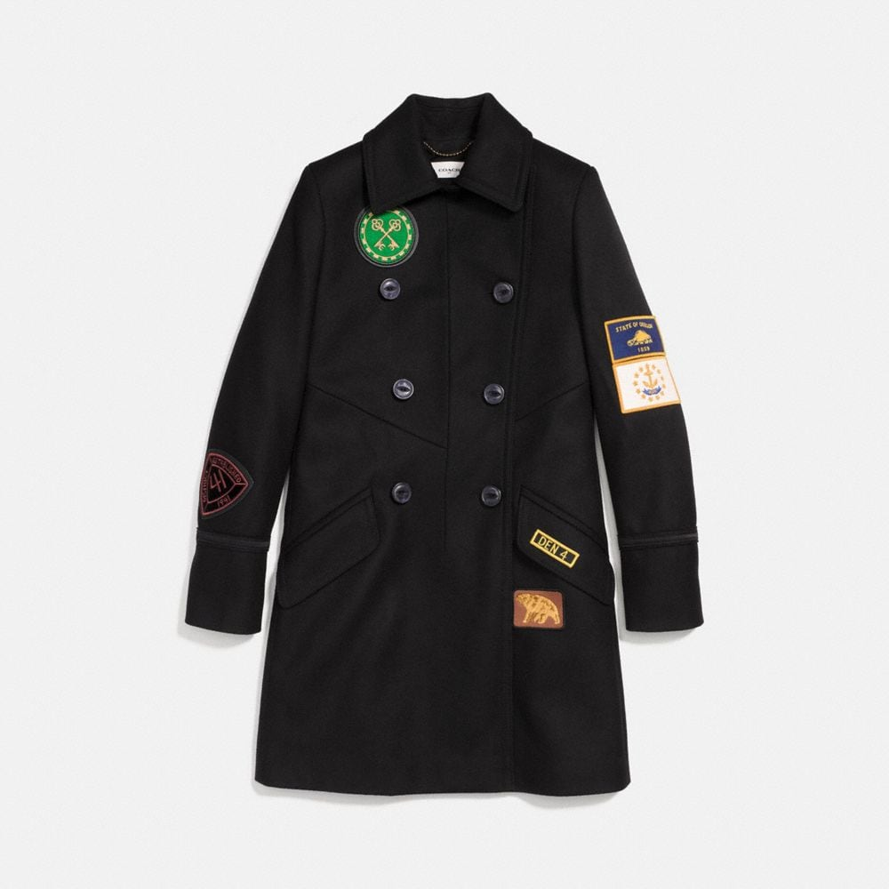 Coach Military Patch Naval Coat