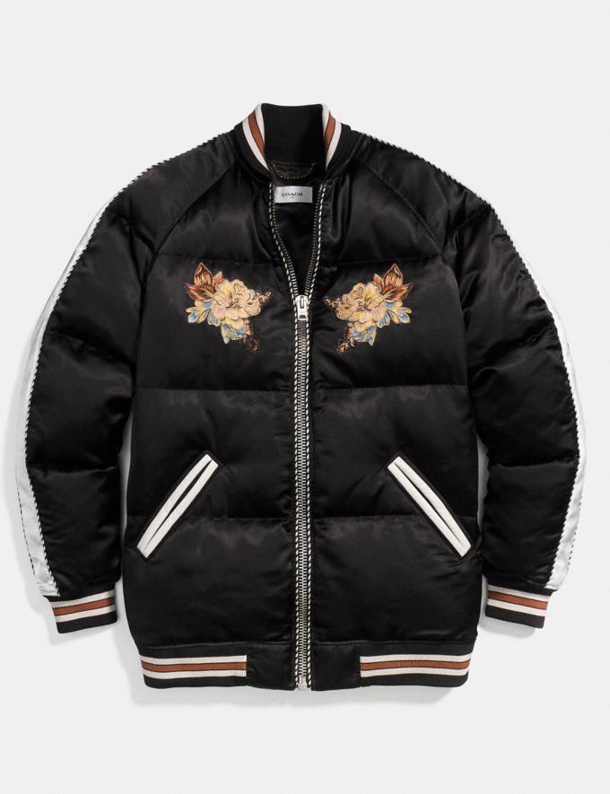 Coach Eagle Souvenir Puffer Coat Black