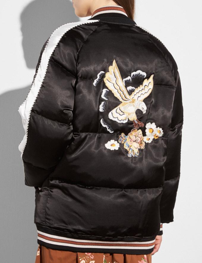Coach Eagle Souvenir Puffer Coat Black  Alternate View 2