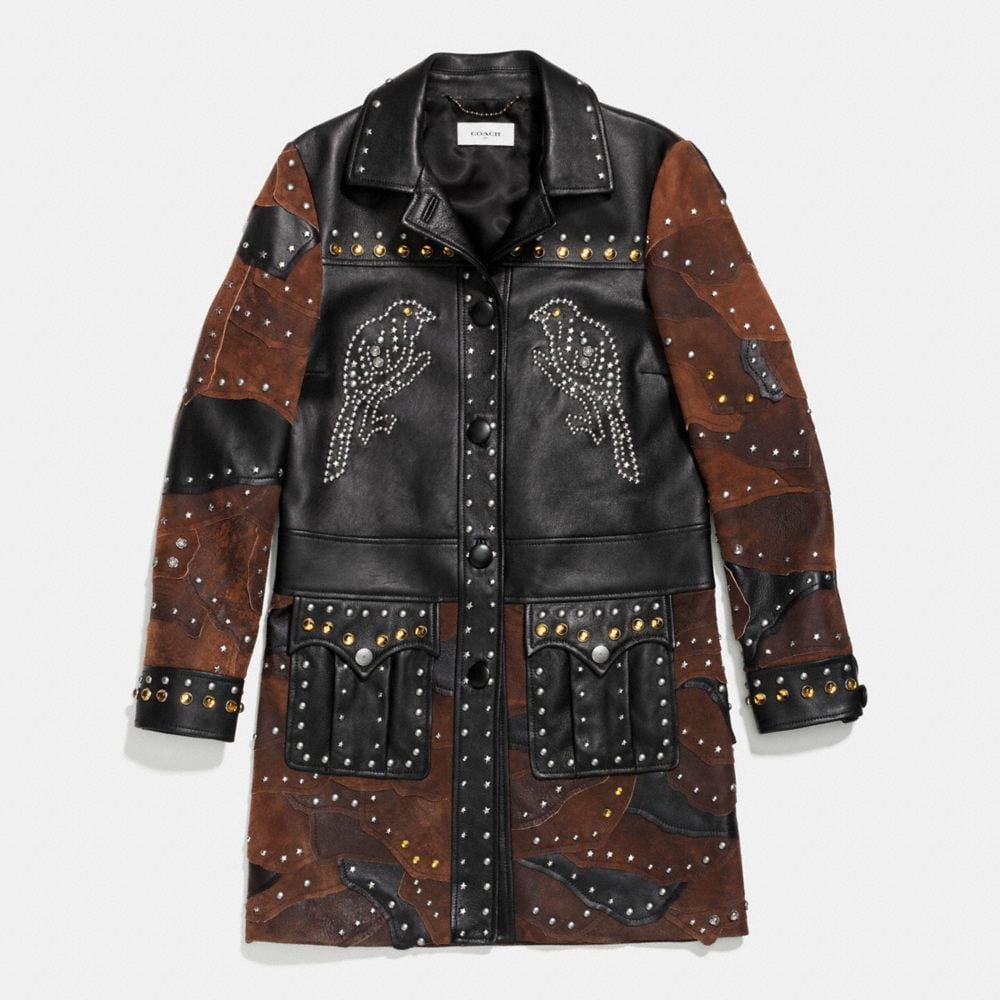 PATCHWORK WESTERN RIVETS COAT