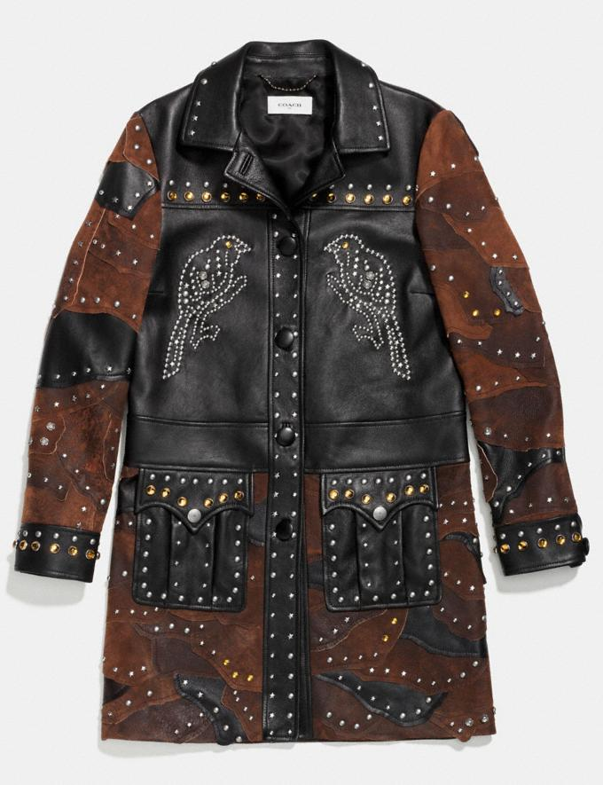Coach Patchwork Western Rivets Coat Black