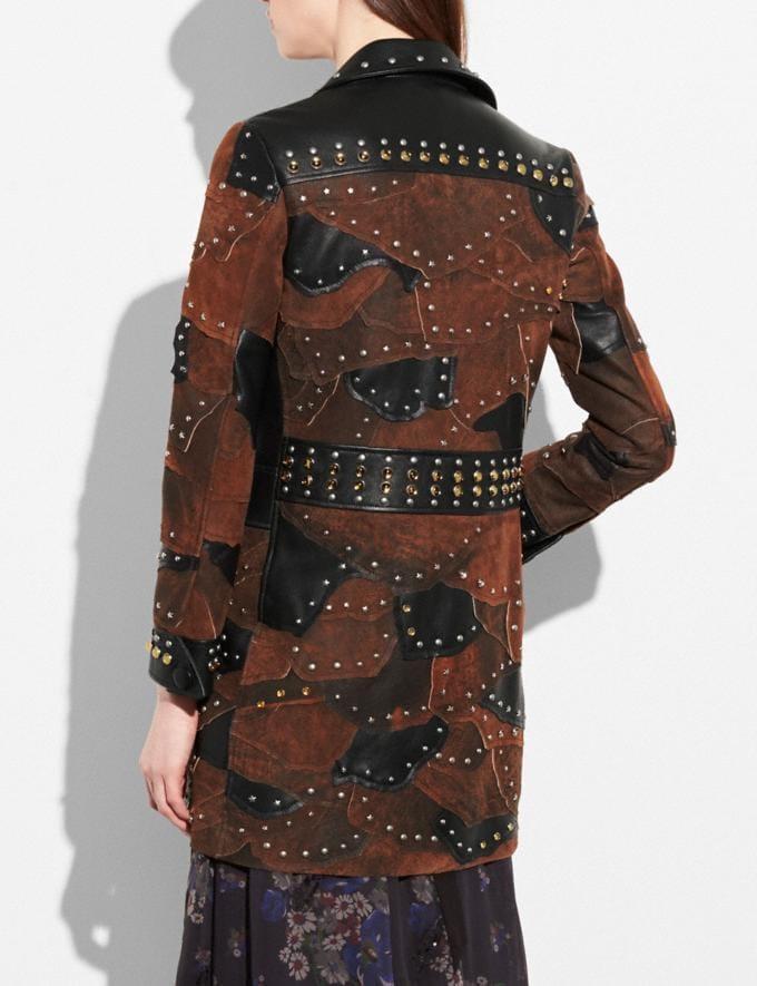 Coach Patchwork Western Rivets Coat Black Women Ready-to-Wear Outerwear Alternate View 2