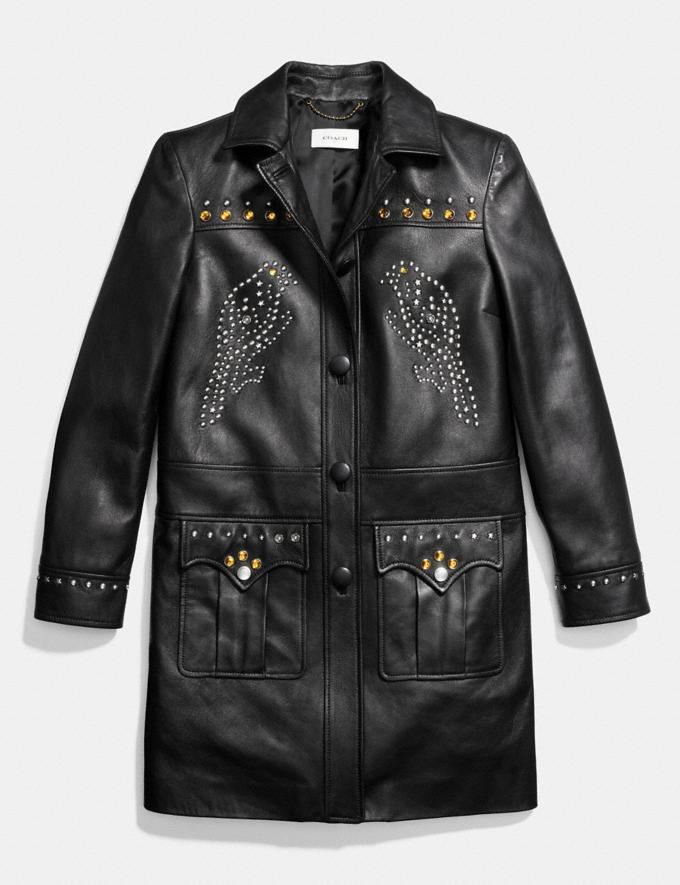 Coach Western Rivets Coat Black