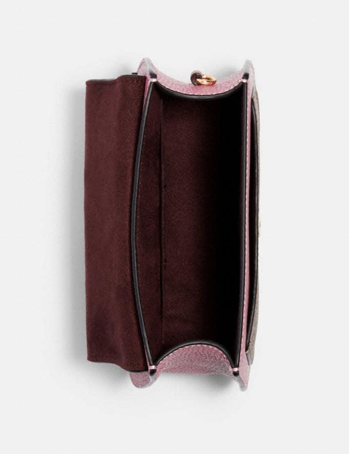 Coach Remi Saddle Bag in Colorblock Signature Canvas Im/Khaki/ Midnight Multi Women Bags Alternate View 2