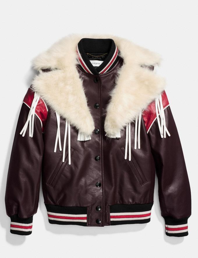 Coach Dream Catcher Varsity Coat Dark Brown