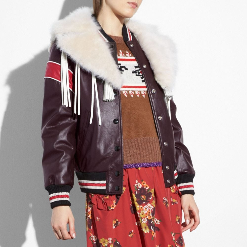 Coach Dream Catcher Varsity Coat Alternate View 1
