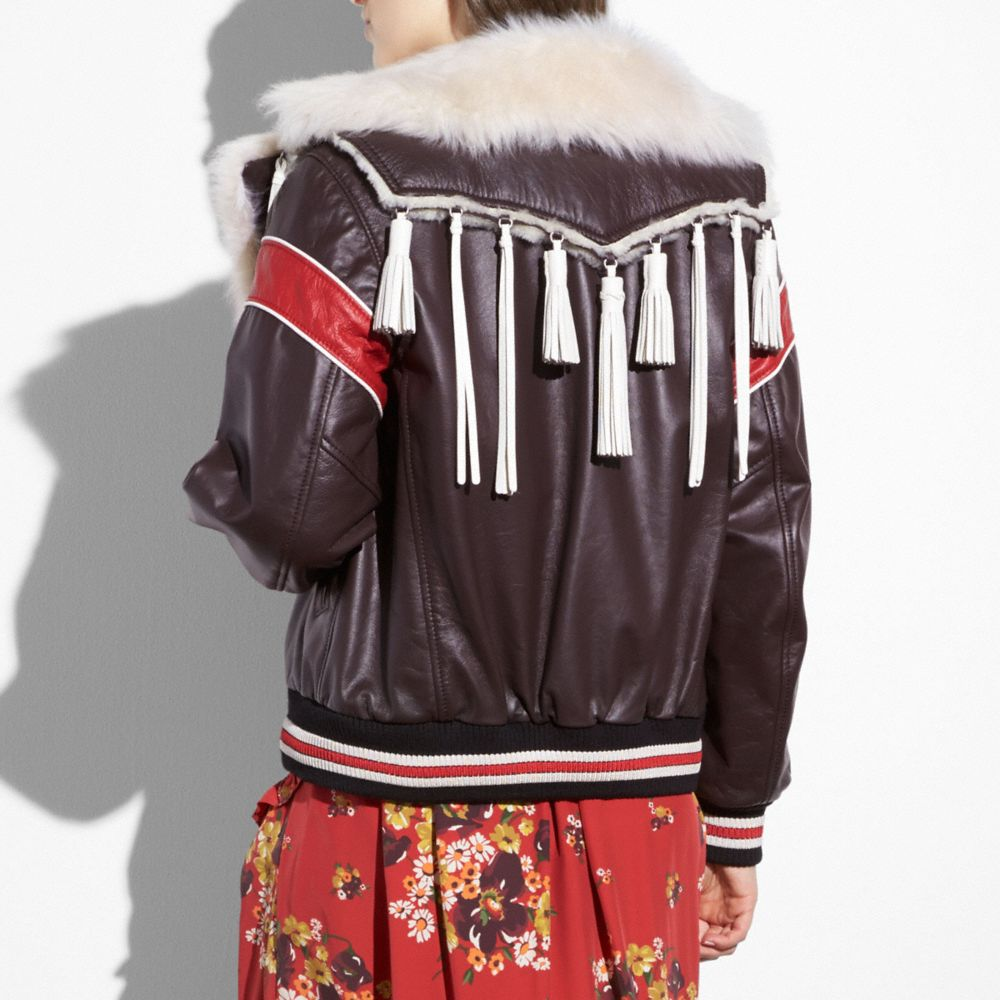 Coach Dream Catcher Varsity Coat Alternate View 2