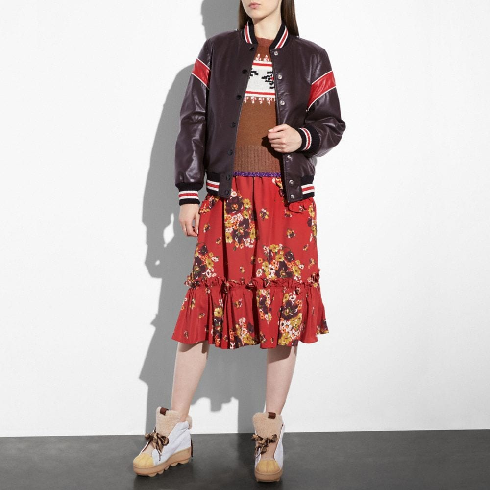 Coach Dream Catcher Varsity Coat Alternate View 3