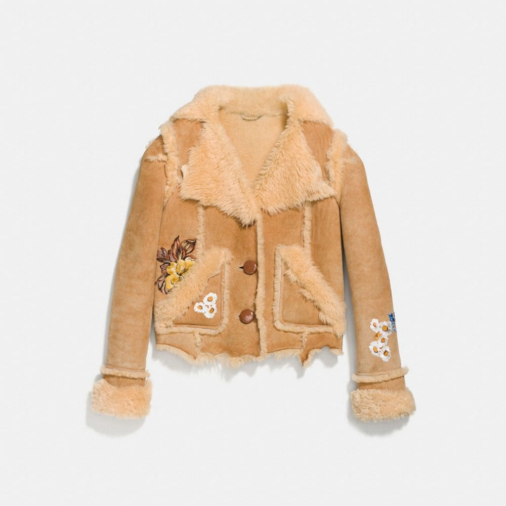 eagle raggedy shearling jacket