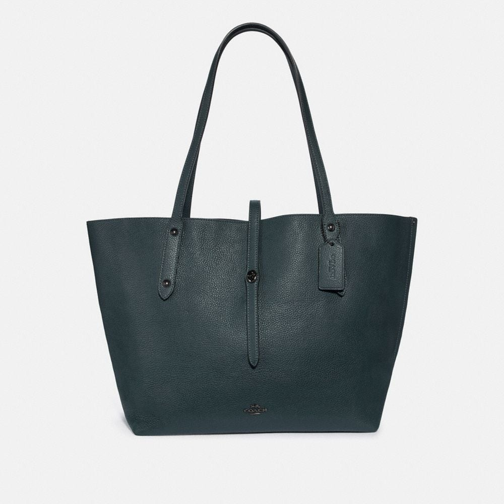 MARKET TOTE WITH METALLIC INTERIOR