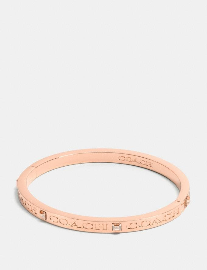 Coach Coach Pave Hinged Bangle Rosegold Gifts Holiday Shop Jewellery Gifts