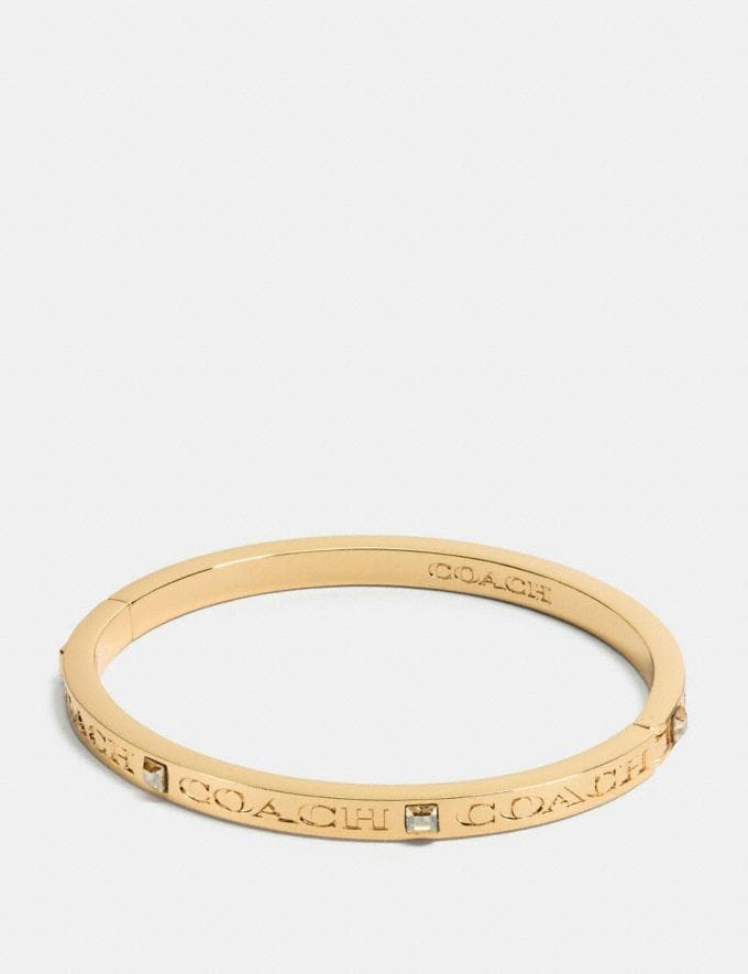Coach Coach Pave Hinged Bangle Gold Gift null A World of Gifts