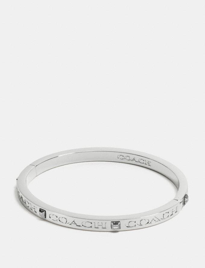 Coach Coach Pave Hinged Bangle Silver Gift For Her Under €100