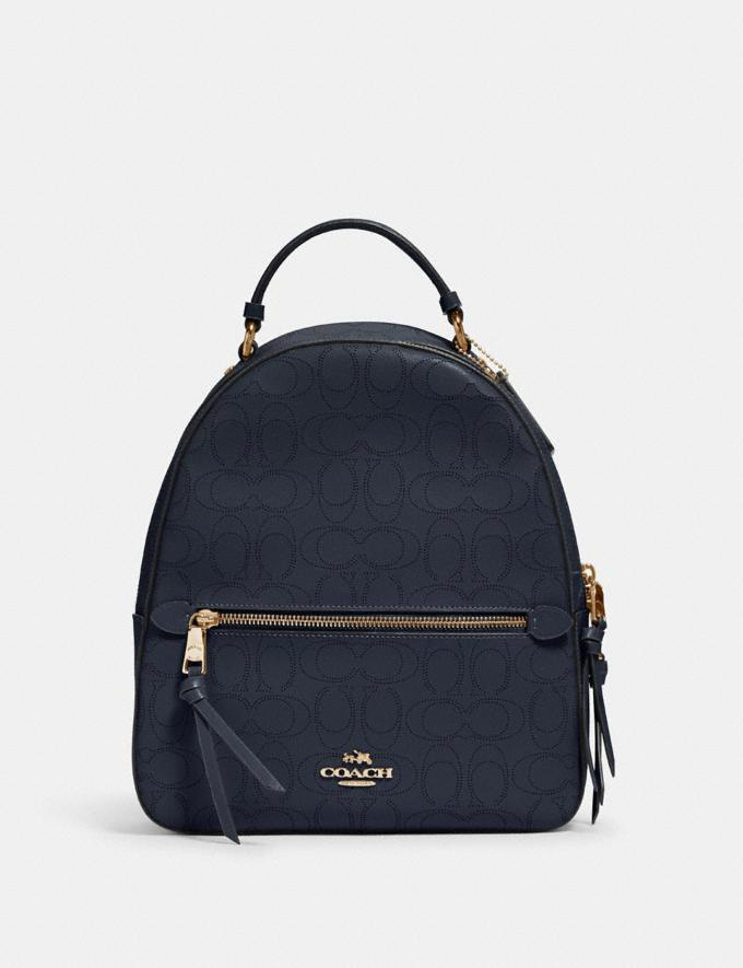 Coach Jordyn Backpack in Signature Leather Im/Midnight Women Bags