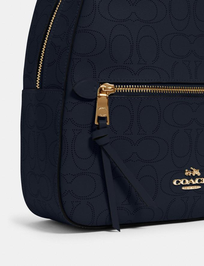 Coach Jordyn Backpack in Signature Leather Im/Midnight Women Bags Alternate View 3