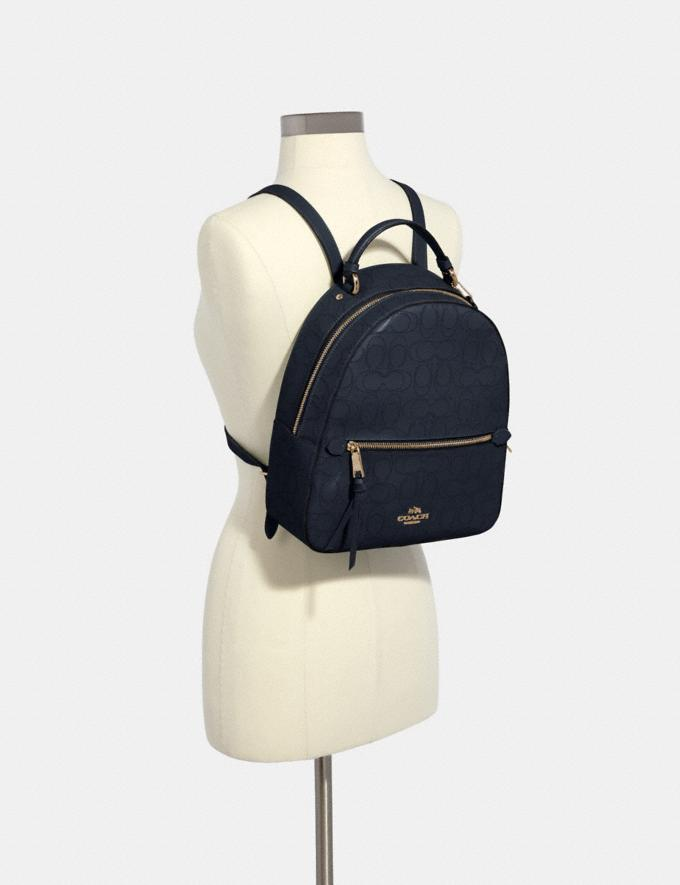 Coach Jordyn Backpack in Signature Leather Im/Midnight Women Bags Alternate View 2