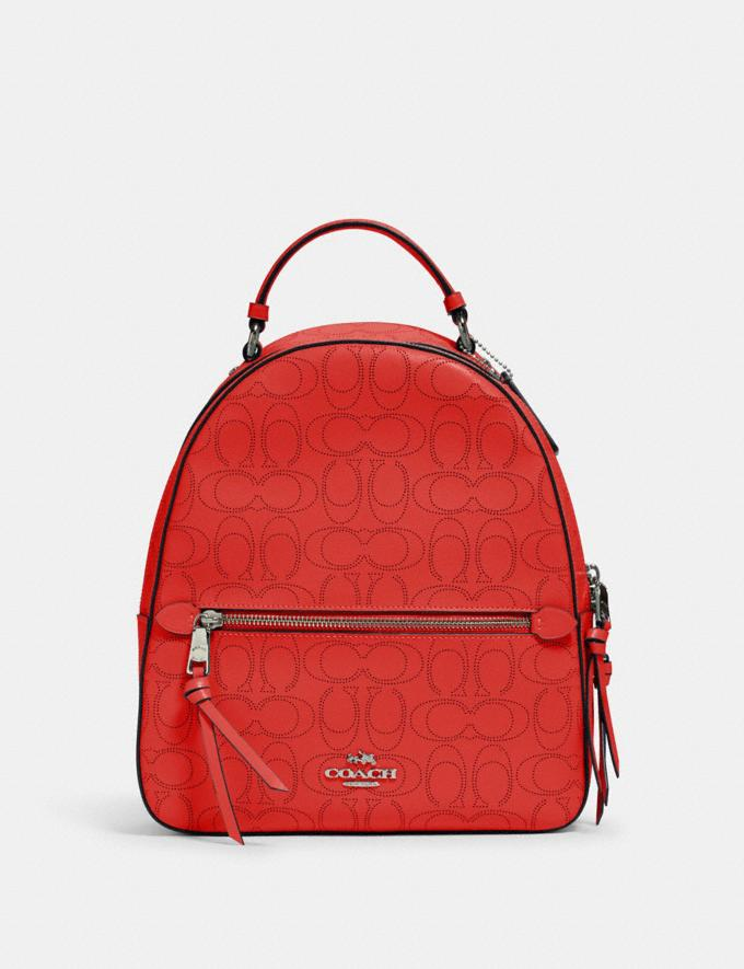 Coach Jordyn Backpack in Signature Leather Qb/Miami Red Women Bags