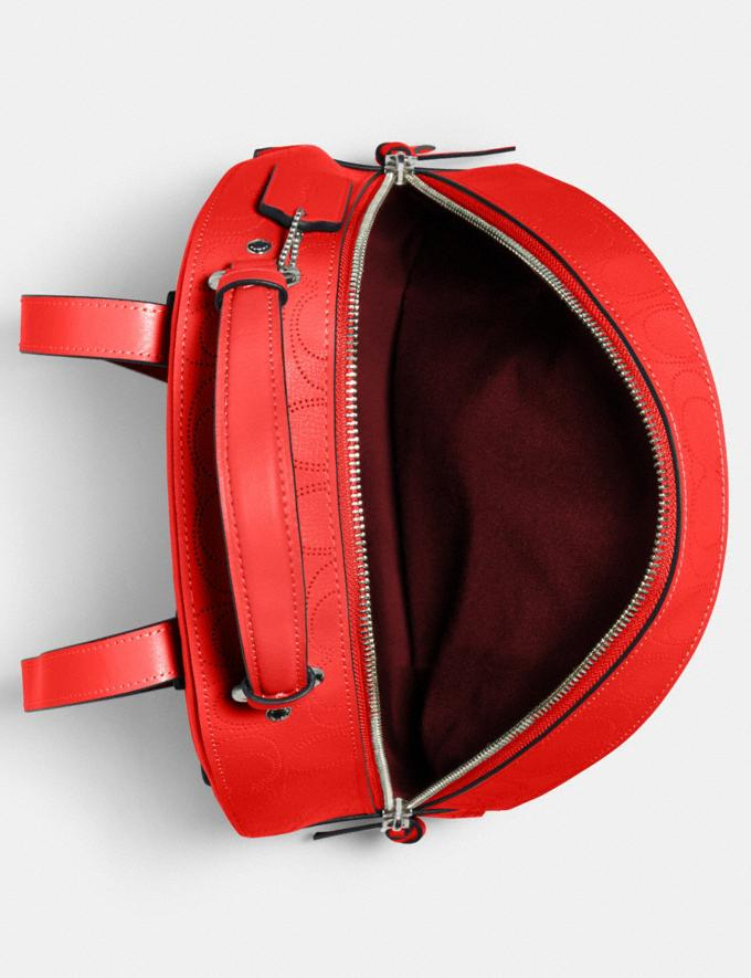 Coach Jordyn Backpack in Signature Leather Qb/Miami Red Women Bags Alternate View 1