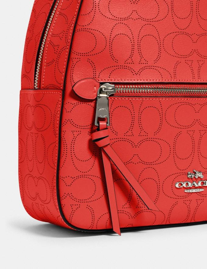 Coach Jordyn Backpack in Signature Leather Qb/Miami Red Women Bags Alternate View 3