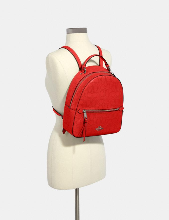 Coach Jordyn Backpack in Signature Leather Qb/Miami Red Women Bags Alternate View 2