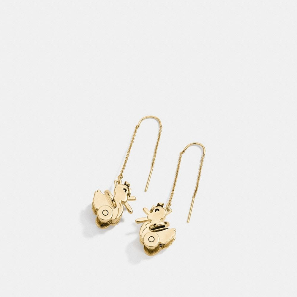 Coach Duck Drop Earrings