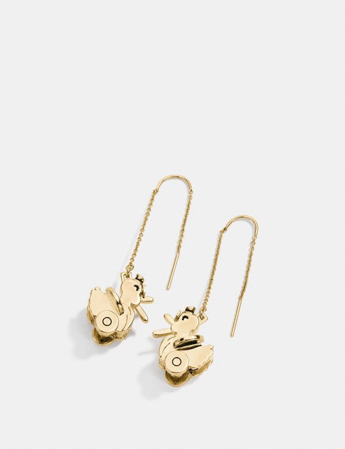 Coach Duck Drop Earrings Gold