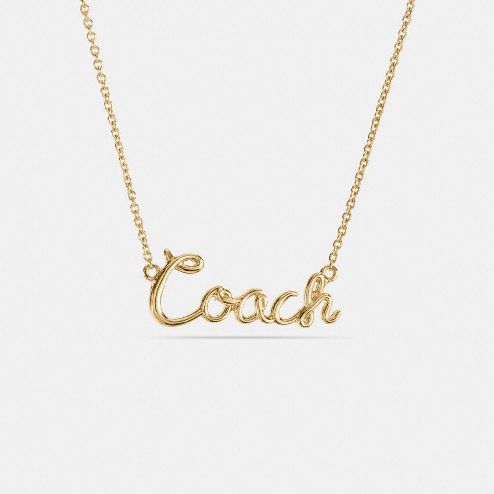 Coach Coach Plaque Necklace