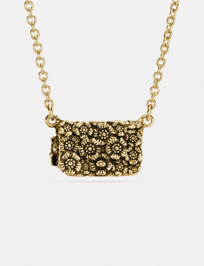 Coach Dinky Necklace Gold Staff Sale Women's Sale Jewellery