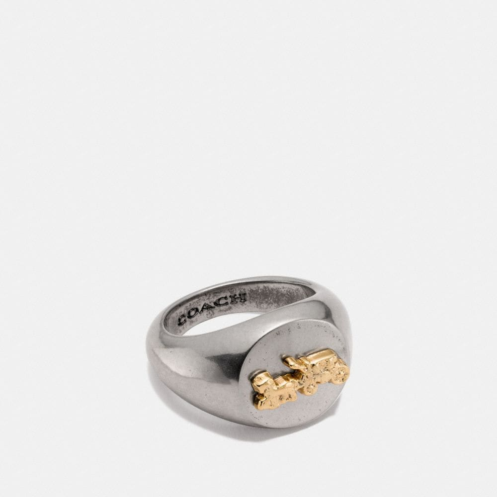 Coach Horse and Carriage Signet Ring