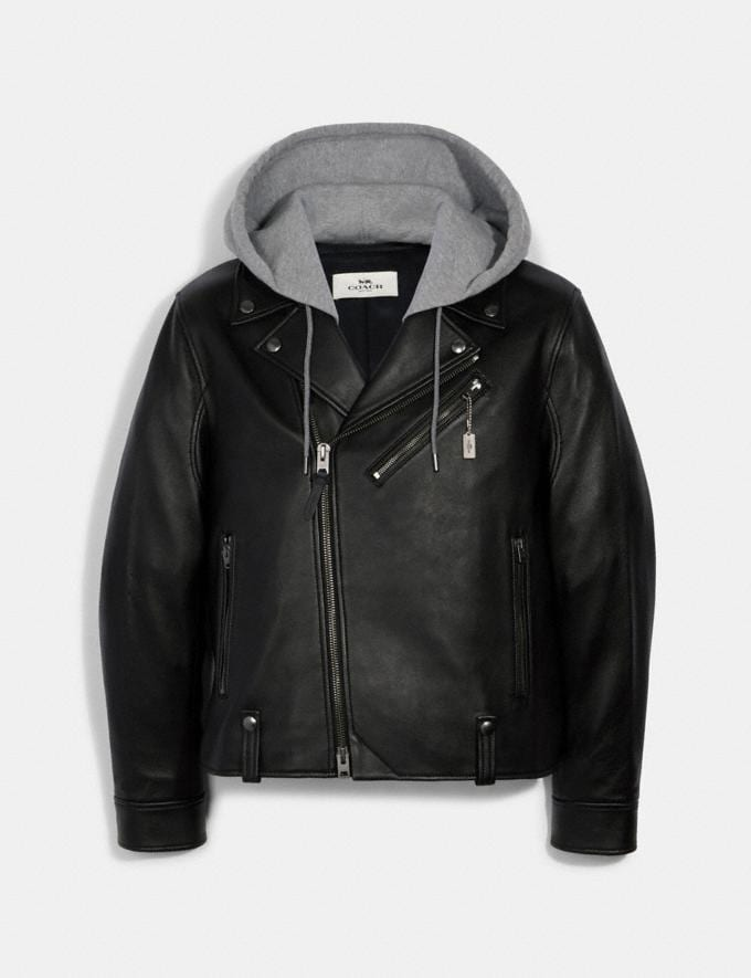Coach Moto Jacket Black