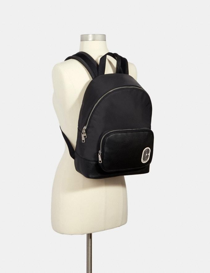 Coach Court Backpack With Coach Patch Sv/Black Members Only Members Only Alternate View 2