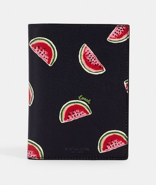 PASSPORT CASE WITH WATERMELON PRINT