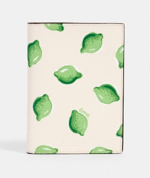 PASSPORT CASE WITH LIME PRINT