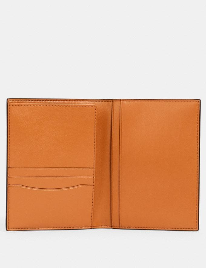 Coach Passport Case With Orange Print Im/Orange/Blue  Alternate View 1