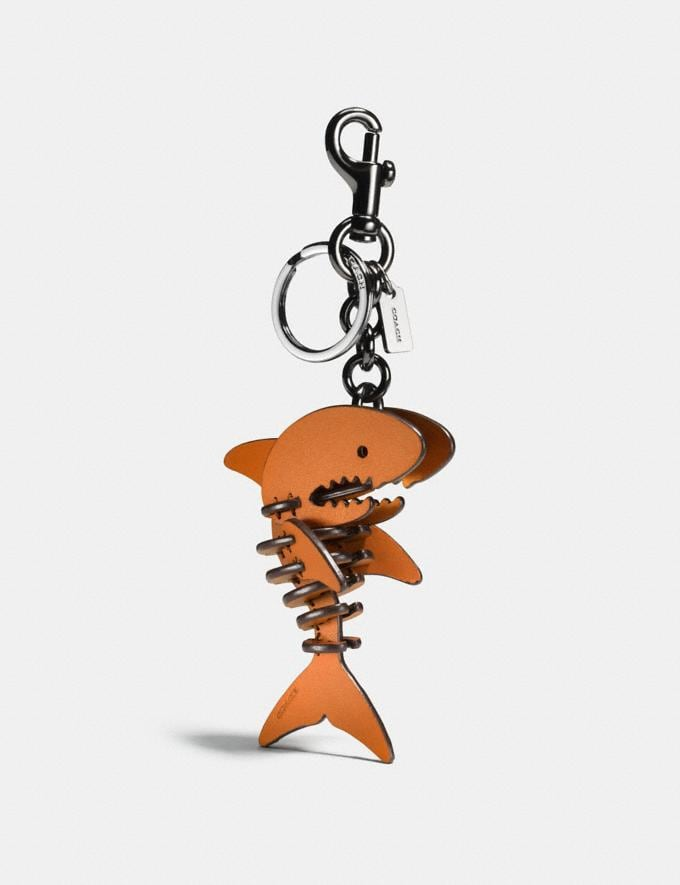 Coach Small Sharky Puzzle Bag Charm Gifting Orange/Black CYBER MONDAY SALE Women's Sale Accessories