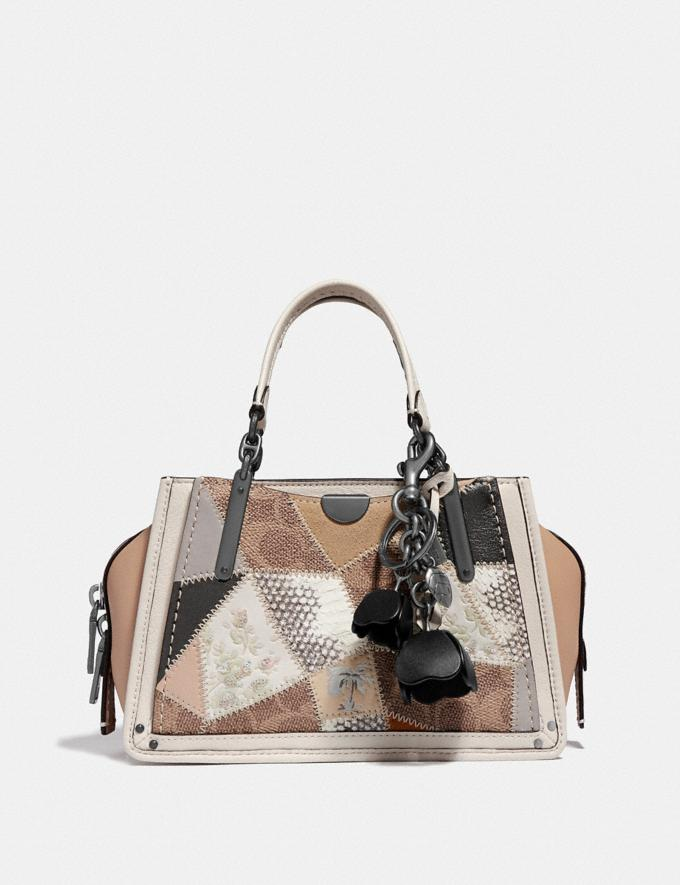 Coach Essential Tea Rose Bag Charm Black/Black Women Accessories Bag Charms & Key Rings Alternate View 1