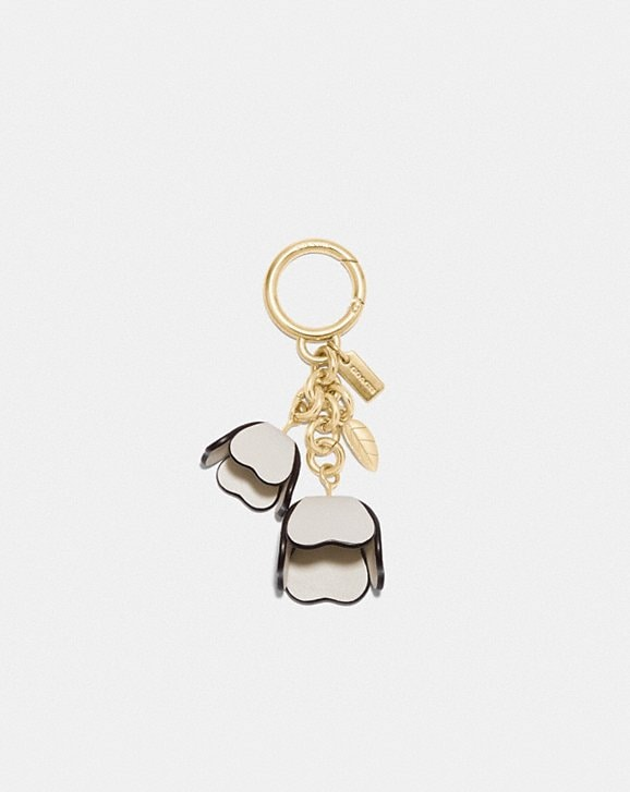 Coach ESSENTIAL TEA ROSE BAG CHARM