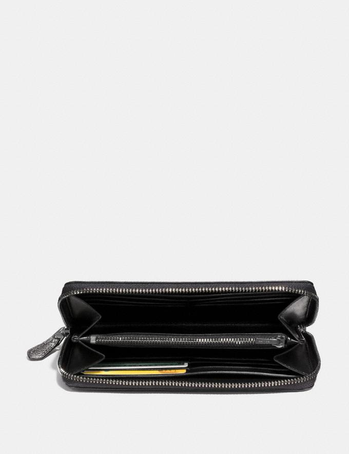 Coach Accordion Zip Wallet Gm/Metallic Graphite Women Small Leather Goods Large Wallets Alternate View 1