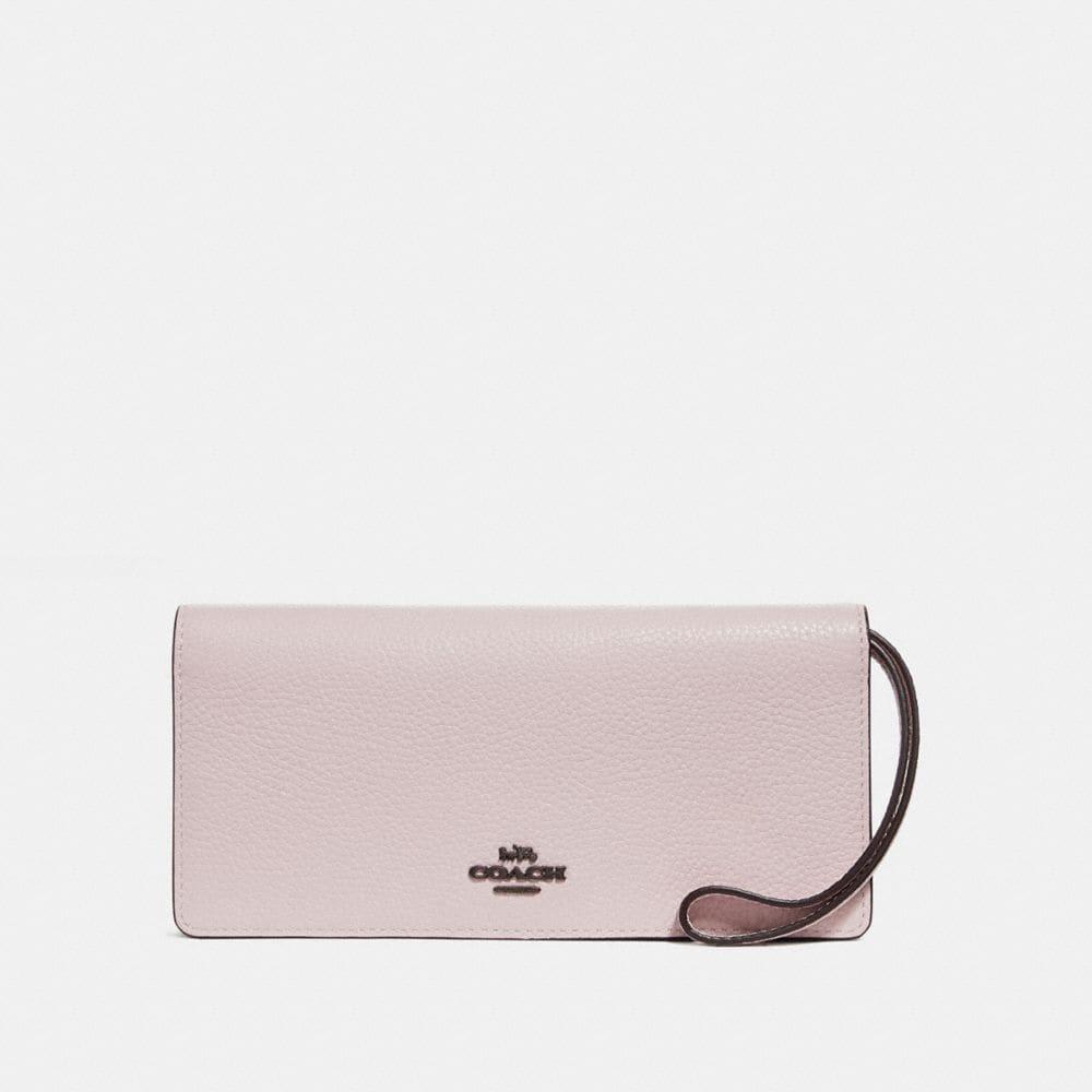 slim wallet in colorblock