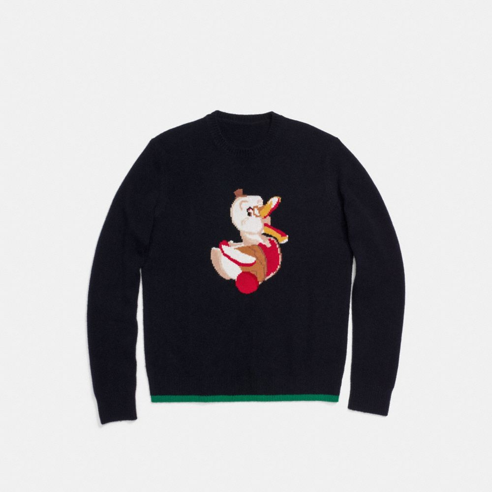 Coach Duck Intarsia Sweater Alternate View 1