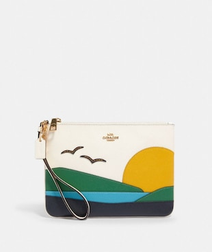 GALLERY POUCH WITH SUNSET MOTIF