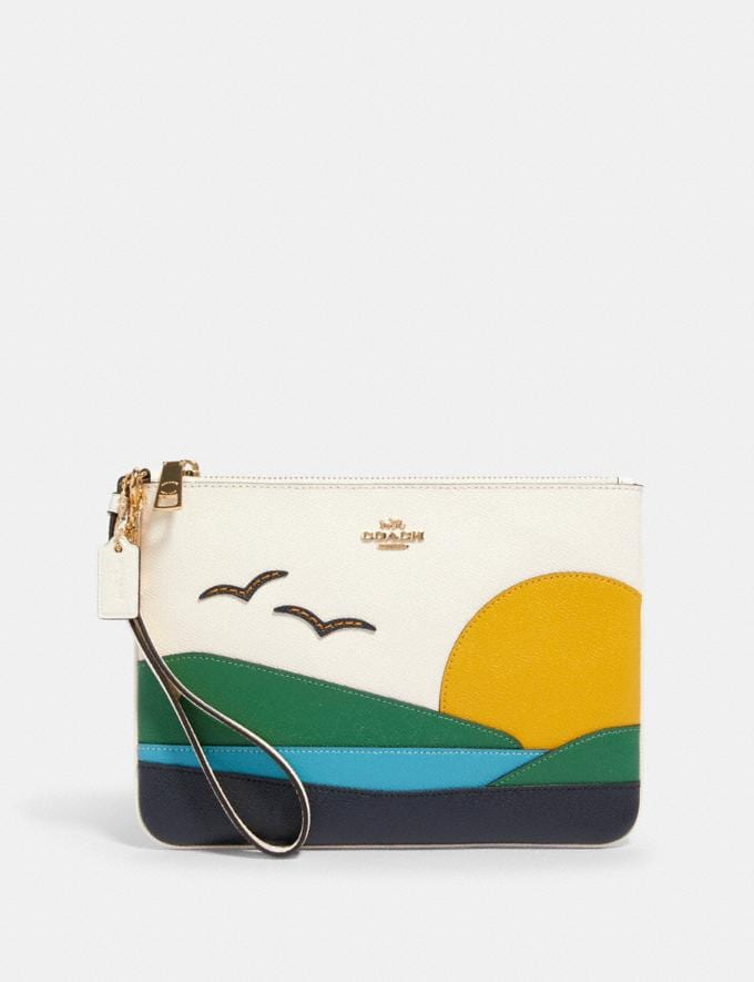 Coach Gallery Pouch With Sunset Motif Im/Chalk Multi