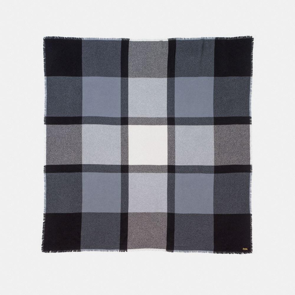 Coach Oversized Plaid Blanket Scarf