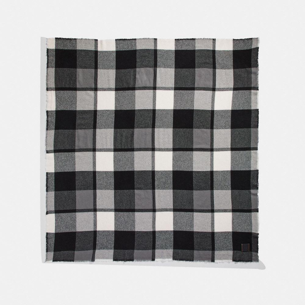 oversized plaid blanket scarf