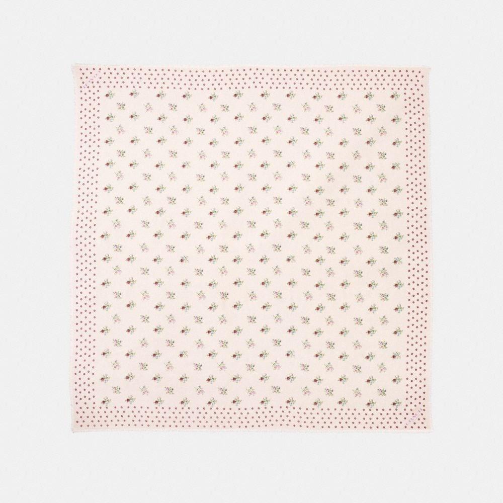 CROSS STITCH FLORAL OVERSIZED SQUARE