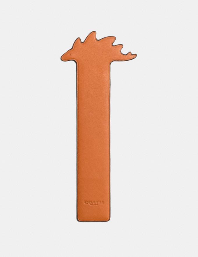Coach Steggy Bookmark Gifting Orange