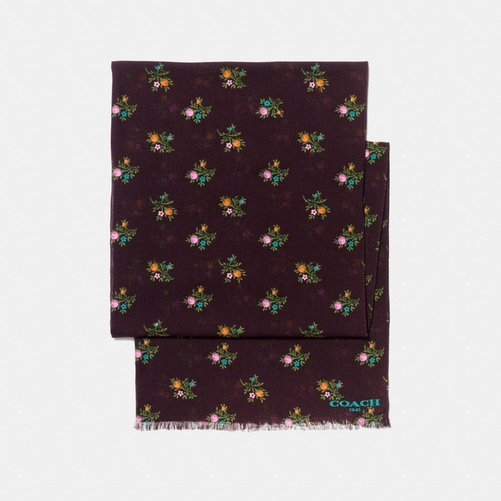 Coach Allover Cross Stitch Floral Oblong