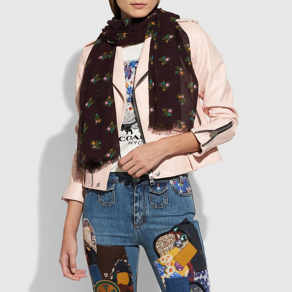 Coach Allover Cross Stitch Floral Oblong Alternate View 1